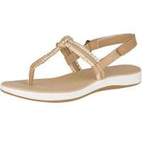 Sperry Women's Seabrook Elsie Linen Python Sandals  STS98958