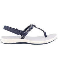 Sperry Women's Seabrook Elsie Navy Denim Stripe Sandals
