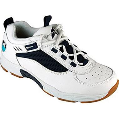 Rugged Shark Men's Marlin2 Athletic Boat Shoe (White/Navy) RS-MARLIN2