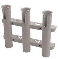 Sea Dog 3 Pole Side Mount Rod Holder/Storage Rack - White  325038-1