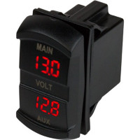 Sea Dog Dual Voltmeter Rocker Switch Style  421636-1