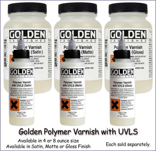 Golden Polymer Varnish with UVLS