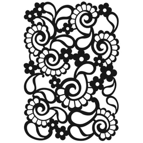 Paisley 5 x 7 Stencil
