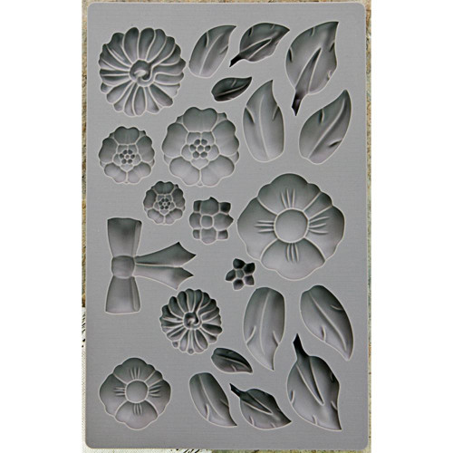 Iron Orchid Designs Vintage Art Decor Mould Rustic Fleur