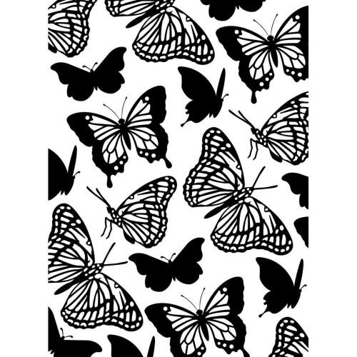 "Background Embossing Folder 4.25""X5.75"" - Butterflies"