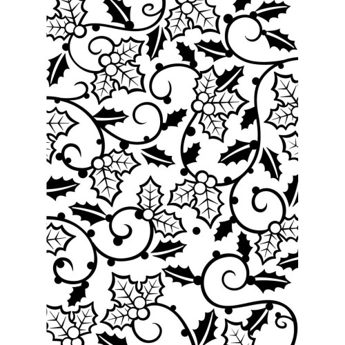 "Background Embossing Folder 4.25""X5.75"" - Holly Vines"