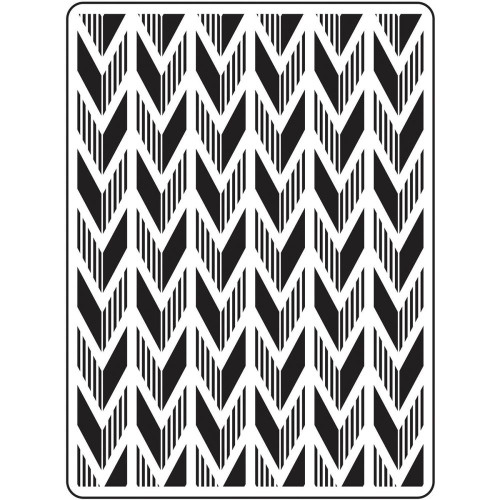"Background Embossing Folder 4.25""X5.75"" - Arrow"