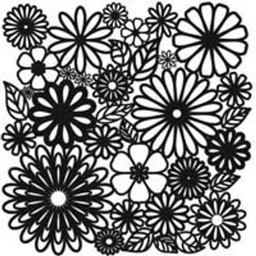 Stencil Flower Frenzy 6 x 6