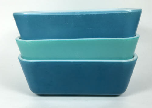 Vintage Pyrex Refrigerator Dishes Blues Set of 3 502