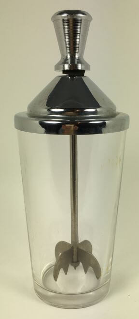 Vintage Bar Glass Mixer with Muddler