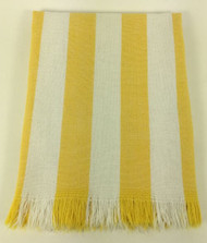 Vintage Kitchen Towel Yellow And White Stripes