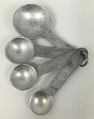 Vintage Aluminum Measuring Spoons Set of 4