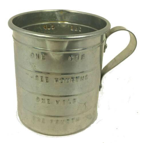Vintage Aluminum Liquid Measuring Cup