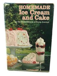Vintage Homemade Ice Cream and Cake Cookbook 1972