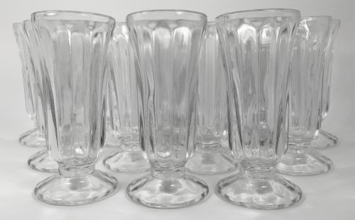 Vintage Mini Parfait Ice Cream Clear Glass Cups Set of 12