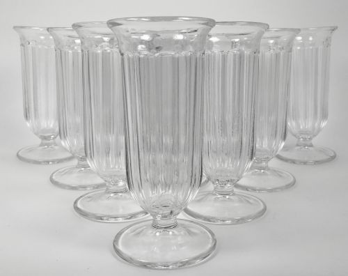 Vintage Mini Parfait Clear Glass Set of 9 Soda Foutain