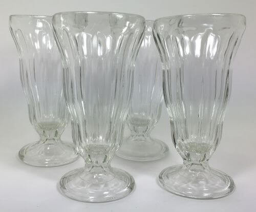 Vintage Ice Cream Sundae Soda Fountain Parfait Set of 4