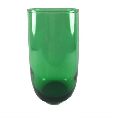 Vintage Emerald Green Beverage Tumblers