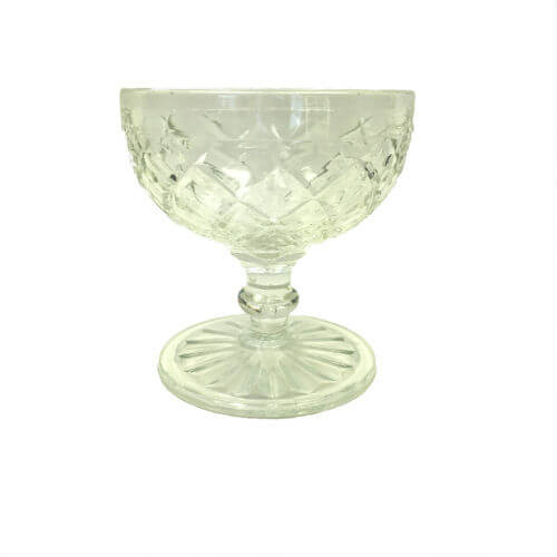 Vintage Champagne Coupe Sherbet Depression Glass Waterford Clear Anchor Hocking