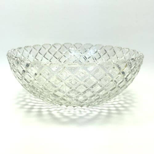 Vintage Depression Glass Waterford Clear Anchor Hocking Large Fruit Serving Bowl
