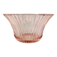 Vintage Pink Depression Glass Flared Bowl Queen Mary Pattern