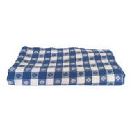 Vintage Blue Picnic Plaid Tablecloth 55x65