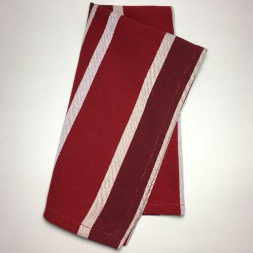 Cloth Dinner Napkins, Red and White Stripes by Danica, Set of 4
