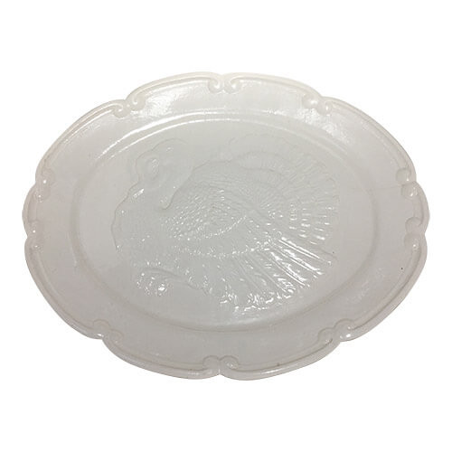Vintage White Large Turkey Platter by Northington
