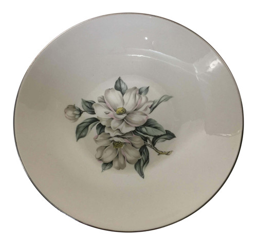 Vintage Homer Laughlin White Magnolia Rhythm Soup Bowl