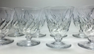 Baccarat Beauchene Short Stem Crystal Wine Glass Set of 8
