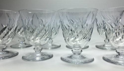baccarat beauchene short stem crystal wine glass set of 8