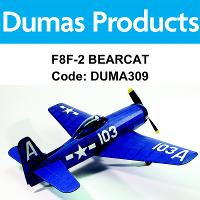 DUMAS 309 F8F-2 BEARCAT 30 INCH WINGSPAN RUBBER POWERED