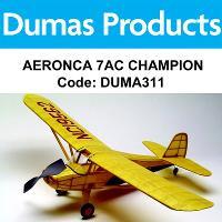 DUMAS 311 AERONCA 7AC CHAMPION 30 INCH WINGSPAN RUBBER POWERED