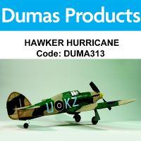 DUMAS 313 HAWKER HURRICANE 30 INCH WINGSPAN RUBBER POWERED