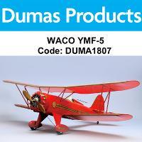 DUMAS 1807 35 INCH WACO YMF-5 R/C ELECTRIC POWERED