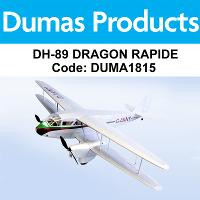 DUMAS 1815 42 INCH DH-89 DRAGON RAPIDE R/C ELECTRIC POWERED
