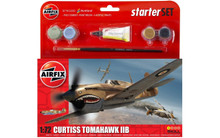 Curtiss Tomahawk IIB Starter Set 1:72 inc paint/brush and glue