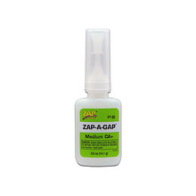 ADHESIVE,ZAP-A-GAP CA+ 1/2oz (GREEN)