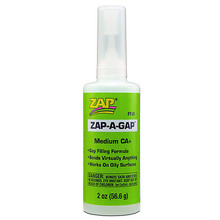 ADHESIVE,ZAP-A-GAP CA+ 2oz (GREEN)