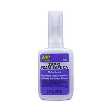 SLO- ZAP CA- (Yellow Label) Thick Viscosity  .7 oz. Zap-O Foam Safe CA**