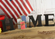 """Unfinished """"O"""" Letter - HOME Series (Firecrackers)"""