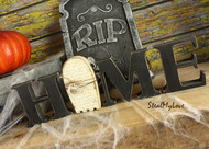 """Unfinished """"O"""" Letter - HOME Series (Ghost)"""