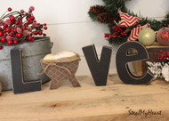 "Unfinished ""O"" Letter - LOVE Series (Manger)"