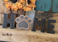 "Paw - Unfinished ""O"" Letter - HOME & LOVE Series"