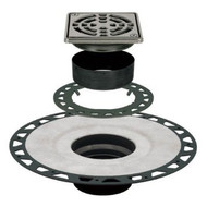 KERDI-DRAIN ABS Drain Kit with 4 in. Stainless-Steel Grate