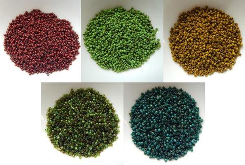 11/o TOHO Seed Beads HYBRID Picasso Colors 25g - Choose Color
