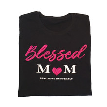 New! Blessed Mom Sparkle Top