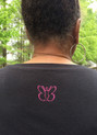 New! Blessed Mom Sparkle Top - Back (pink sparkle Beautiful Butterfly logo).