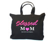 New! Blessed Mom Sparkle Carry-All Tote