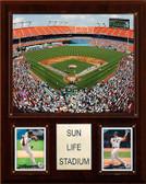 """MLB 12""""x15"""" Sun Life Stadium Stadium Plaque"""